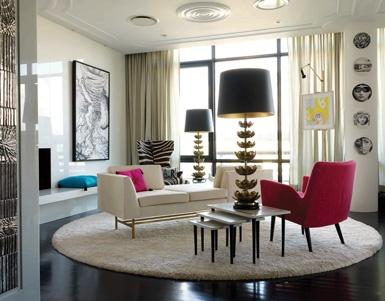 Sophisticated Fun Decor   Johnathan Adler   Parker Residence, New York
