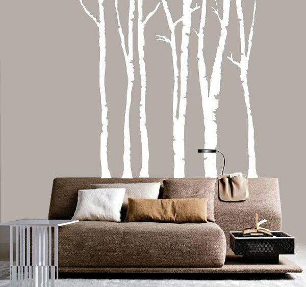Ideal attraktive fototapeten wald braunes sofa
