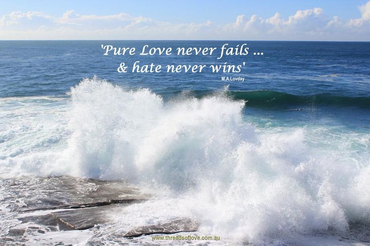 """Pure Love never fails, for more you are welcome to visit http://www.facebook.com/threadsoflove.com.au… and press """"LIKE"""" please :)"""