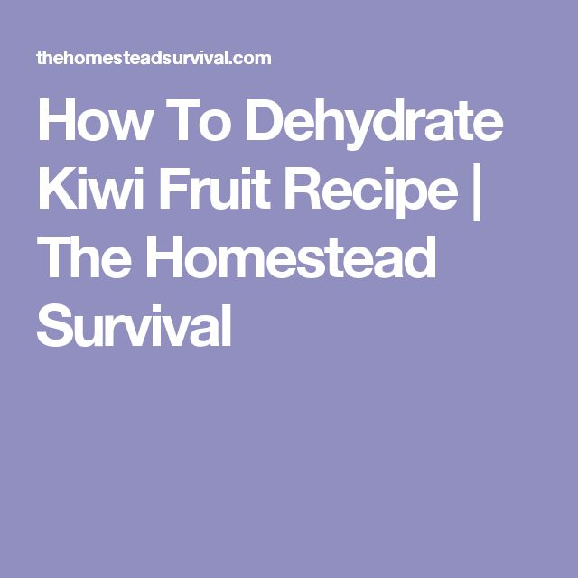 How To Dehydrate Kiwi Fruit Recipe | The Homestead Survival