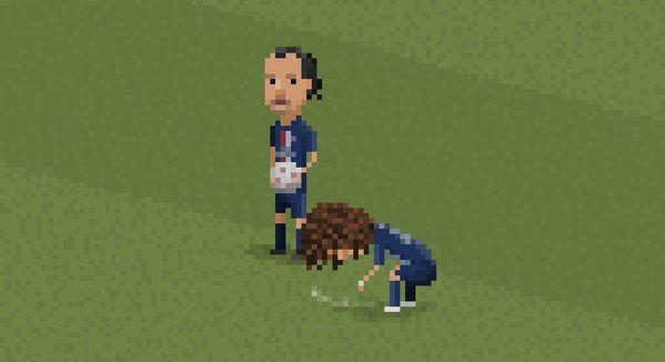 David Luiz maluje linię dla Zlatana Ibrahimovicia w Minecrafcie • Śmieszne memy piłkarskie • Luiz psika sprayem w grze • Zobacz >> #football #soccer #sports #pilkanozna #funny #psg #luiz #memes