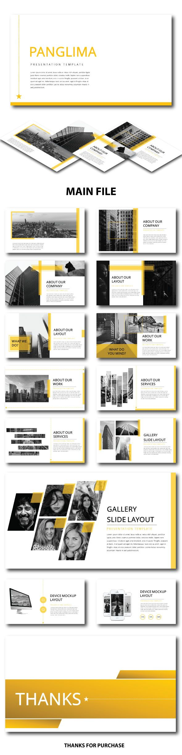 Panglima Multipurpose Template - PowerPoint Templates Presentation Templates