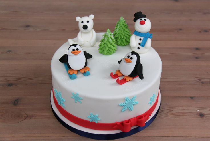 Themataarten - Koning Kikker.                   Happy Winter cake