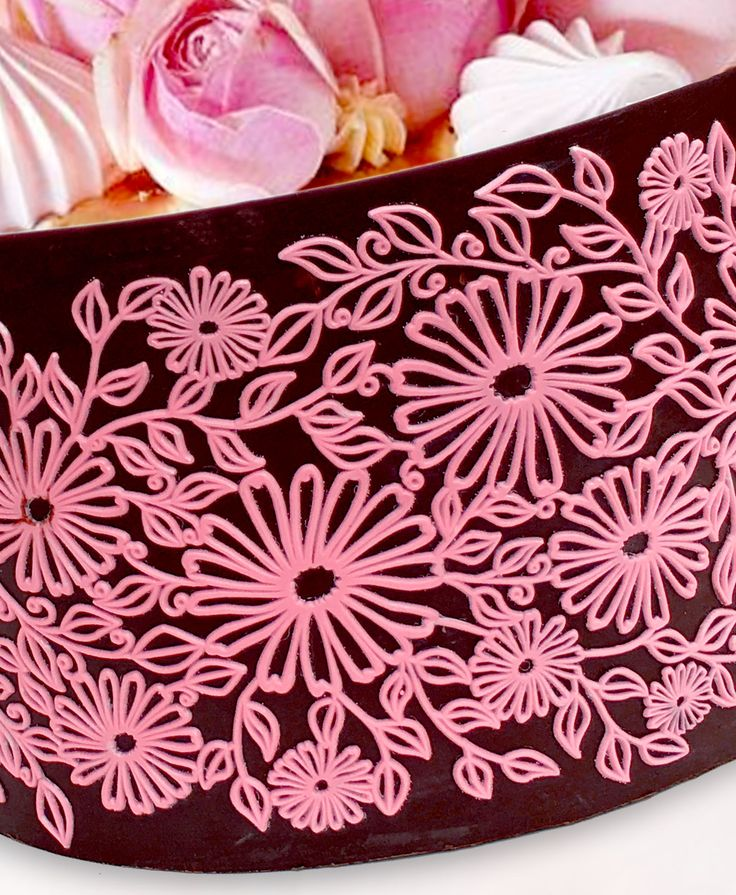 Chocolate collar cake made using Crystal Candy silicone moulds
