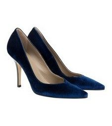 Lords Blue Velvet stiletto Italian pumps