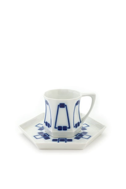 Peter Behrens, Mocha cup and saucer, 1902.   Neue Galerie, New York.