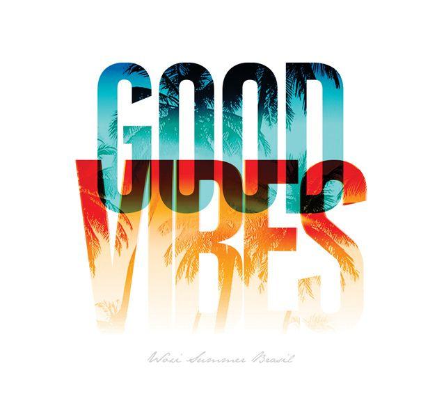 Good Vibes - Estampa localizada para t-shirt Woxi