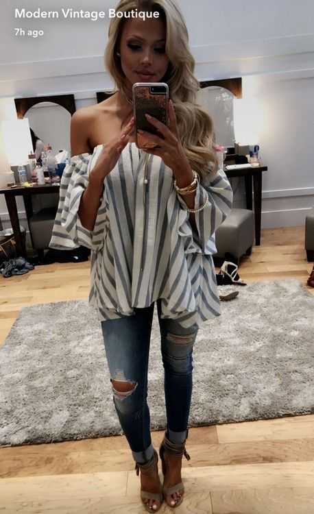 Chambray Off The Shoulder Top, Boutique, Online Boutique, Women's Boutique, Modern Vintage Boutique, Strapless Top, Ruffle, Cute, Fashion