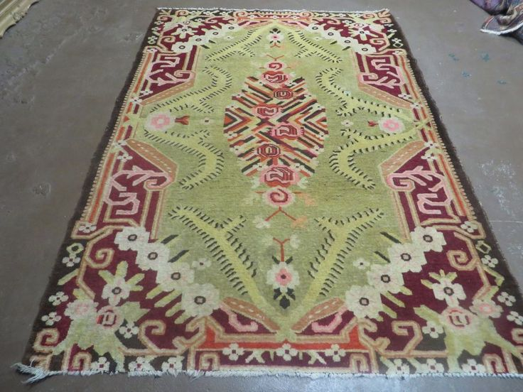 5' X 7' Antique Karabagh Rug Hand Made Wool Carpet Vegy Organic Dyes Red Nice #JEWELRUGSCOLLECTION #Persian