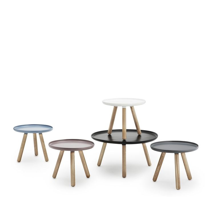 Svenssons i Lammhult - Möbler - Småbord / Tablo bord. Ø78 cm / vit, Normann Copenhagen/Nicholai Wiig Hansen