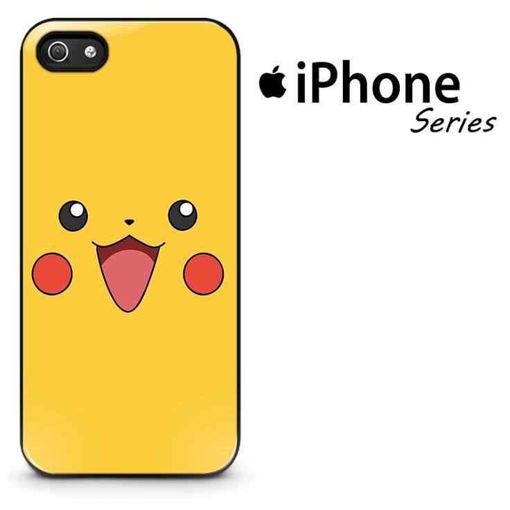 Pokemon Pikachu Face Phone Case | Apple iPhone 4/4s 5/5s 5c 6 6 Plus Samsung Galaxy S3 S4 S5 S6 S6 Edge Samsung Galaxy Note 3 4 5 Hard Case  #AppleiPhoneCase #SamsungGalaxyCase #SamsungGalaxyNoteCase #Yuicase.com