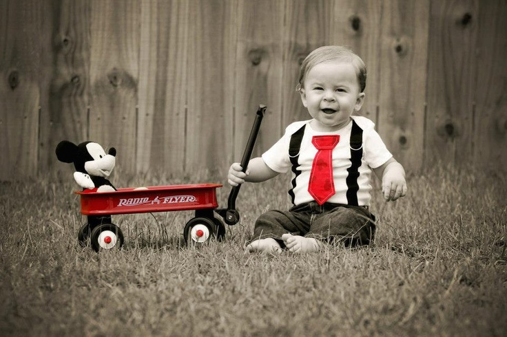 Mickey Mouse Tie Boy Onesie or Shirt with Suspenders - Size NB to 12 Years - Birthday oufit, Photo Prop, Baby shower