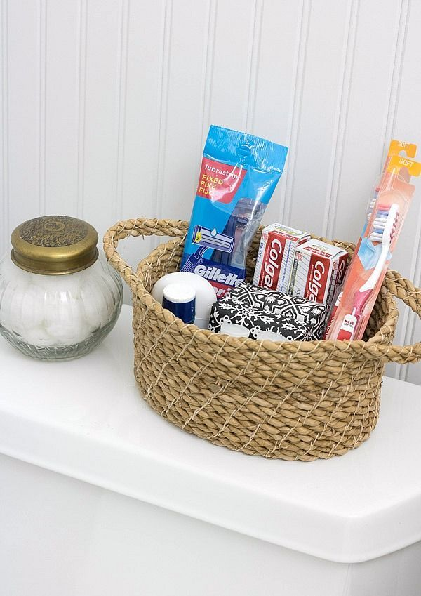 Keep extra toiletries on hand for visiting guests