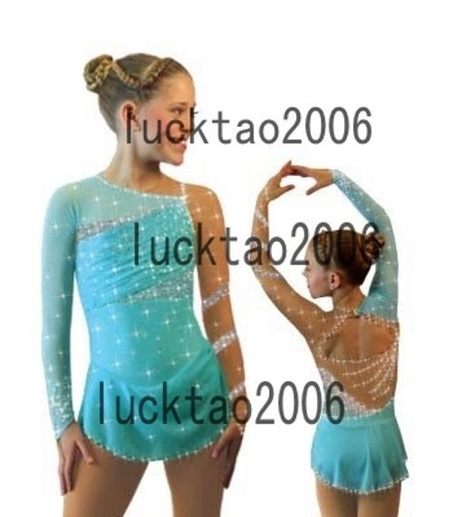Competition Figure Skating Dress Ice Skating Dress Turquoise Dance Costume 8884 | Sporting Goods, Winter Sports, Ice Skating | eBay!