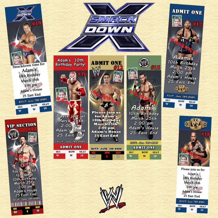 WWE Wrestling Birthday Invitations & More Personalized Custom Made #Personalized #BirthdayChild