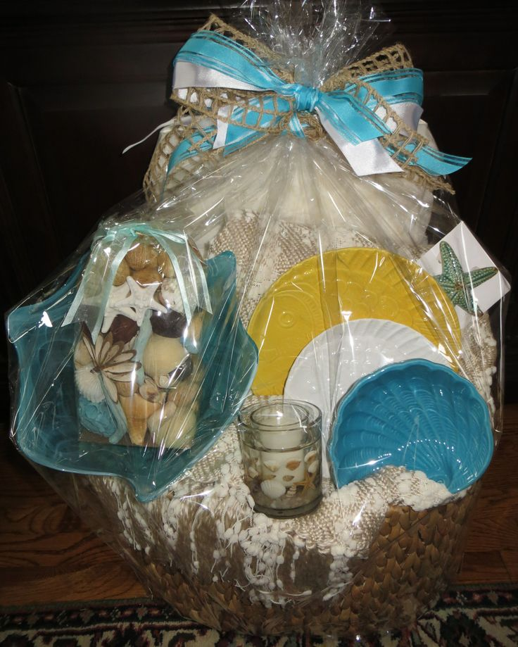 Home Decor Gift Items: Serenity Gift Basket Features Home Decor Items.