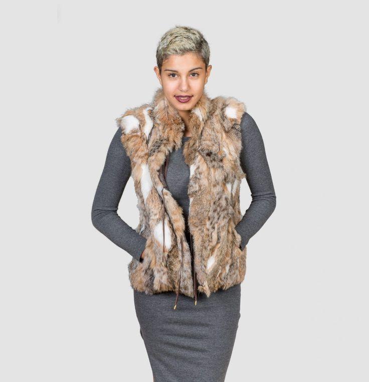 Cropped Lynx Fur Vest     #lynx #fur #vest #classy #elegant#luxury #fur #coat #lynx #design #dress #style #fashion #mexa #furgilet