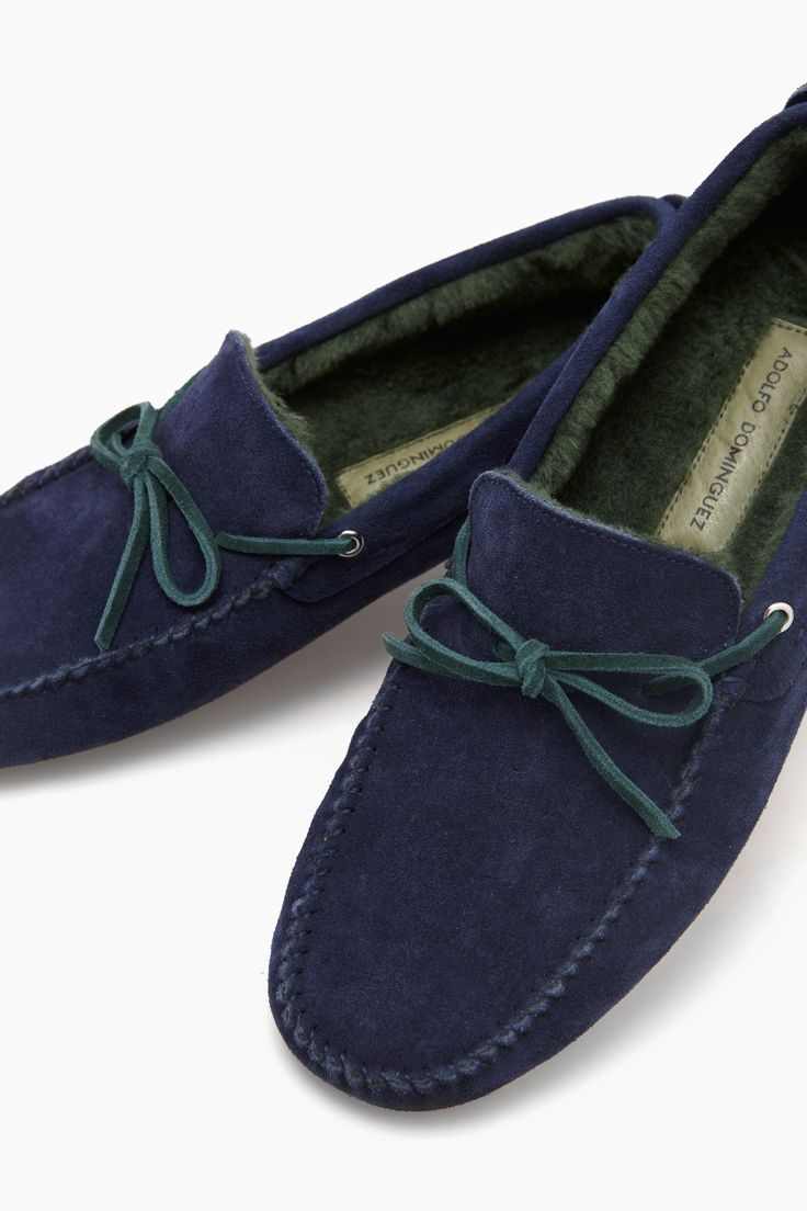 Suede Driving Shoes With Faux Fur Lining - on the road | Adolfo Dominguez shop online
