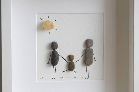 Family Fun Pebble Art – Gift for kid – Gift for he… – #Art #family #fun #Gift