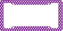 Girly Purple Polka Dots Car License Plate Frame