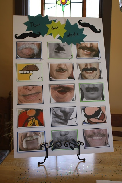 "Name the mustache game for ""little man"" shower. Was a huge hit!"