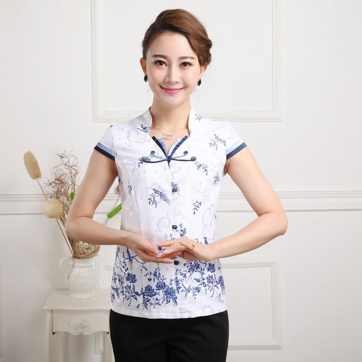 Summer New Chinese Style Women Cotton Tang Suit Tops Blouse Vintage Traditional Chinese Shirt M L XL XXL XXXL 4XL 5XL T13 #Affiliate