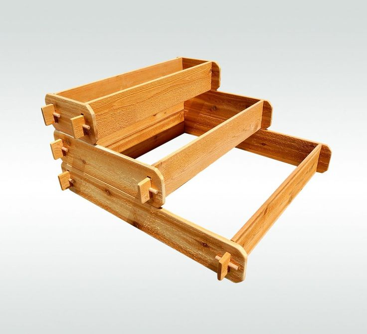 Timberlane Gardens Raised Bed Kit 3 Tiered (1x3 2x3 3x3) Western Red Cedar…