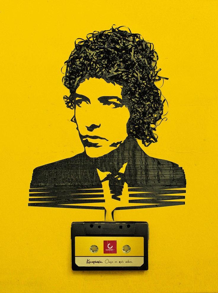 Bob: Iris Simmons, Bobs, Erika Iris, Cassette Tape, Tape Art, Bob Dylan, Bobdylan, Dylan O'Brien