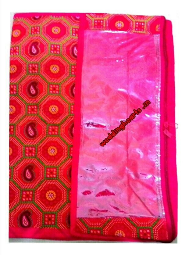 Saree covers.Best for return gift packaging/trousseau packing of bridal/ wedding sarees/lehengas/anarkali suit materials.Code: WH C 001.Designs and models vary.MOQ 6/ 12 covers in each set.Price 120 Each.