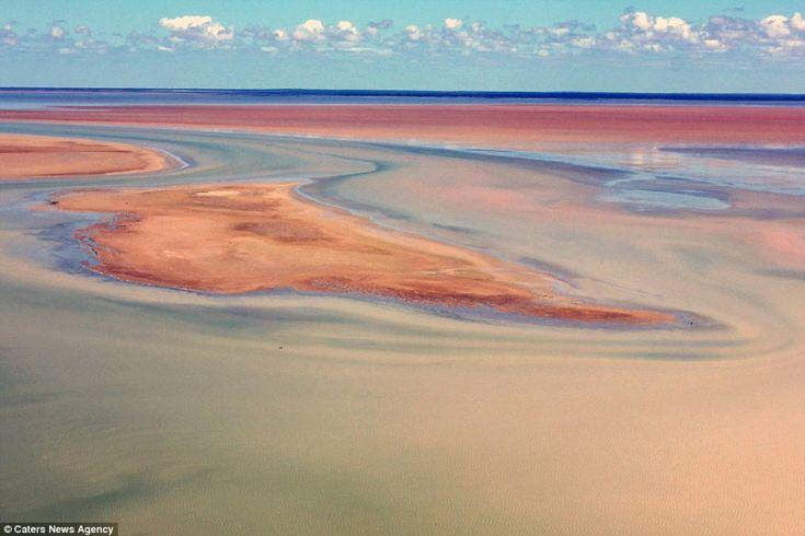 Higher-than-average rainfall has filled Australia's Lake Eyre creating stunning…