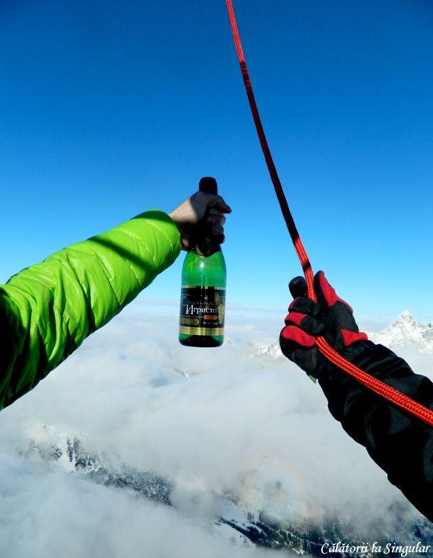 Hot air balloon flight over Austrian Alps