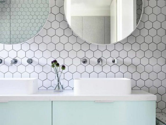 les 25 meilleures id es de la cat gorie carrelage hexagonal sur pinterest salle de bains. Black Bedroom Furniture Sets. Home Design Ideas