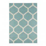 Moroccan Pattern Duck Egg Rug
