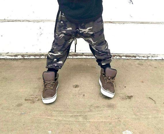 Harem Pants Green Brown Camo Baby Harem Pants by Baby1DreamShop