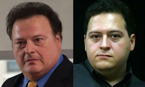Actor Wayne Knight (L) bears an almost eerie resemblance to the son of Pablo Escobar; Sebastian Marroquin (R).