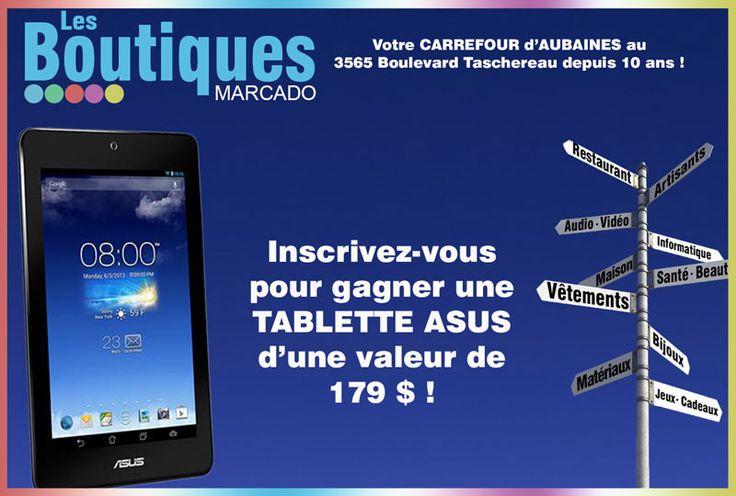 Une tablette ASUS de 179$ à remporter - Quebec echantillons gratuits