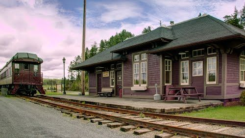 BRISTOL, New Brunswick, Canada - CPR RR station old pc- Bing Images