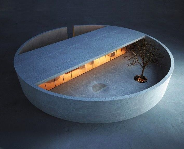Maison Minimaliste cylindrique