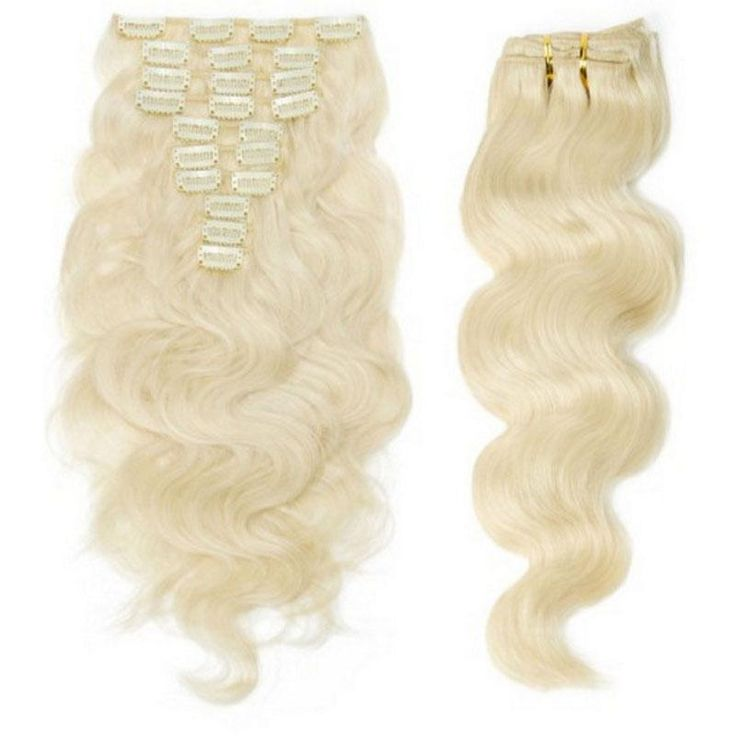 22 best human hair extensions images on pinterest human hair 120g full head clip in human hair extensions body wave 60 blonde virgin indian remy pmusecretfo Gallery