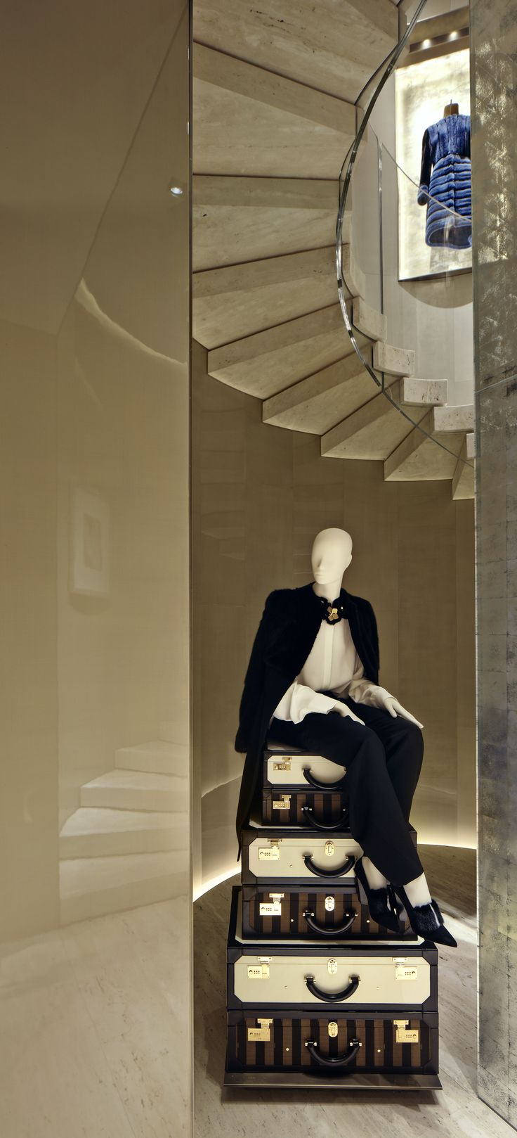 Fendi montenapoleone flagship store milan by curiosity find this pin and more on store design