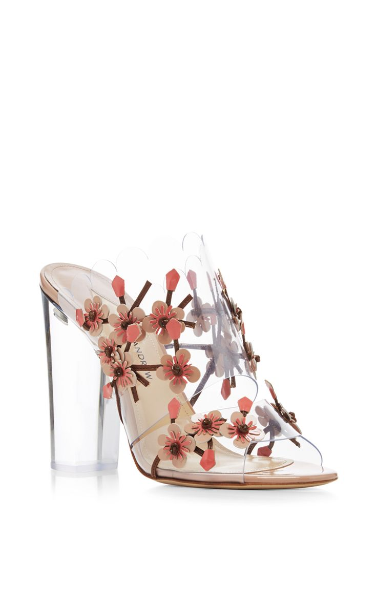 Blossom Embellished Sandals by PAUL ANDREW Now Available on Moda Operandi