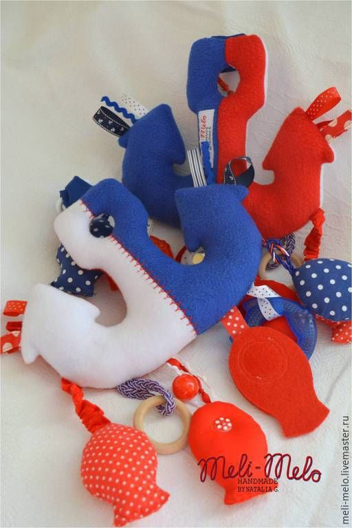 Купить Якорь, просто якорь))) - разноцветный, якорь, море, морская тема, детская комната
