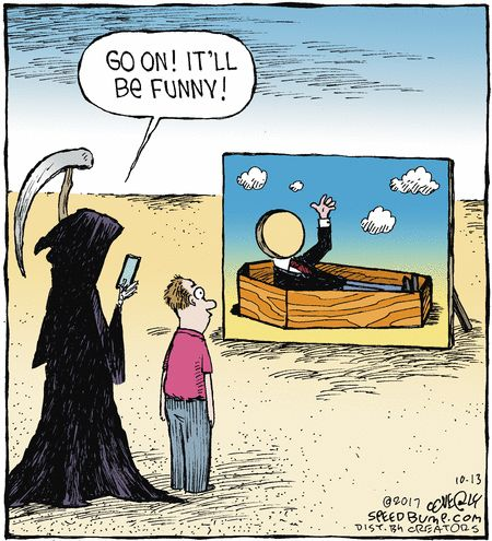 Speed Bump by Dave Coverly for Oct 13, 2017 | Read Comic Strips at GoComics.com
