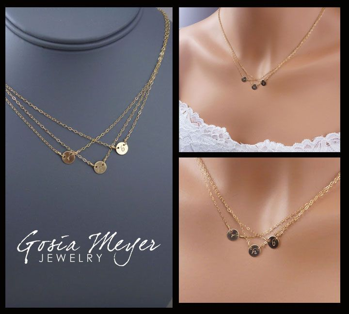 Triple Layered Initial Necklace,- great Xmas or birthday or Mother's Day gift for me @Corey Perez.