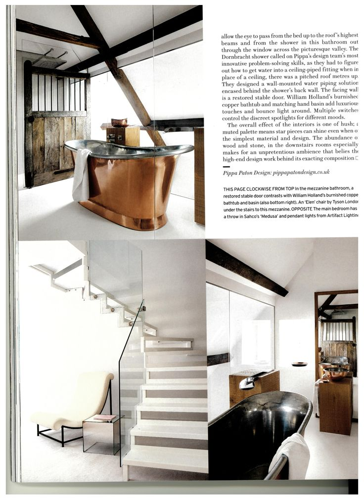Stunning Barn Conversion by Pippa Paton Design as seen in @houseandgarden Magazines March Issue.  #Barn #Conversion #Copperbath #WilliamHolland