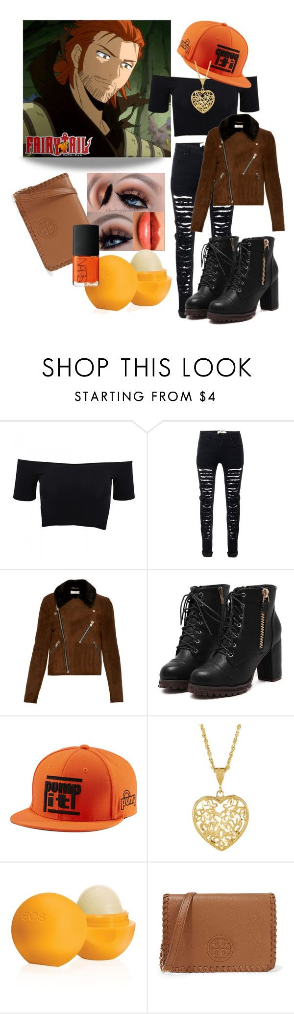 """Fairy Tail Gildarts / casual outfit"" by stormtrooper117 ❤ liked on Polyvore featuring American Apparel, Yves Saint Laurent, Castello, Burberry, Reebok, Eos and Tory Burch"