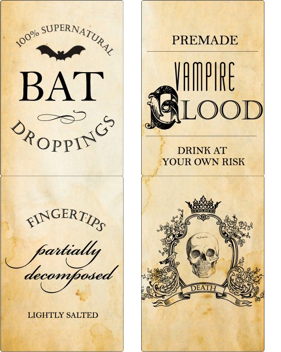 printable wine bottle labels halloween