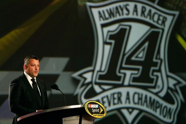Tony Stewart Photos Photos - NASCAR Sprint Cup Series driver Tony Stewart speaks during the 2016 NASCAR Sprint Cup Series Awards show at Wynn Las Vegas on December 2, 2016 in Las Vegas, Nevada. - NASCAR Sprint Cup Series Awards - Show