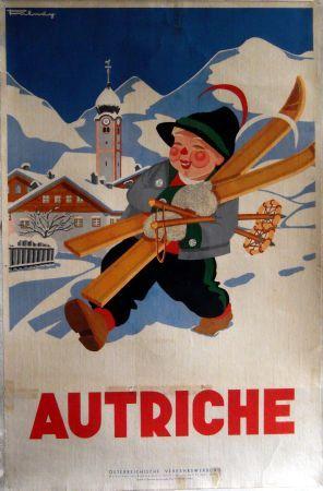 vintage ski poster AUTRICHE 1935
