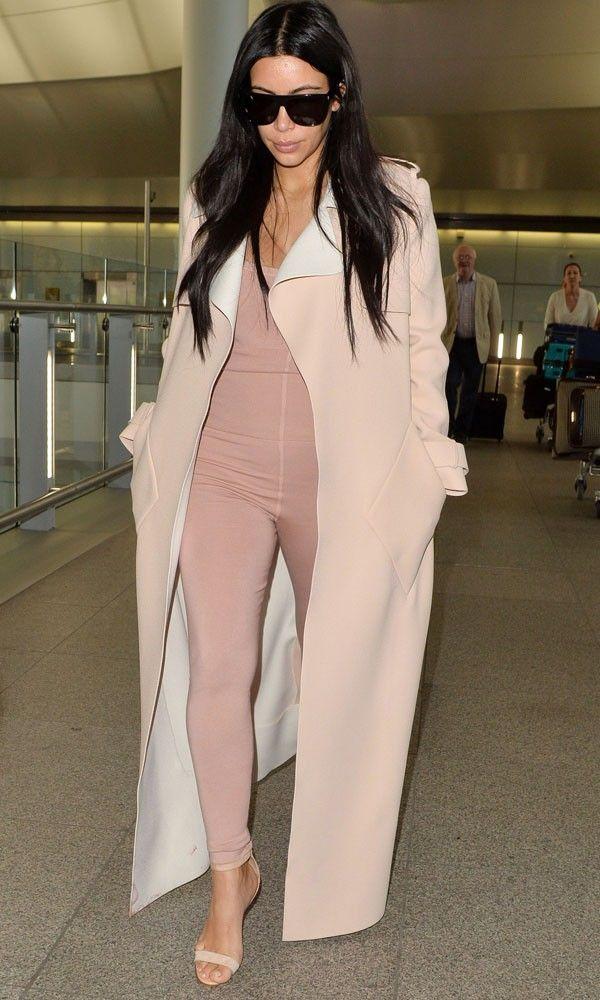 Kim Kardashian Braves A Nude Bodysuit